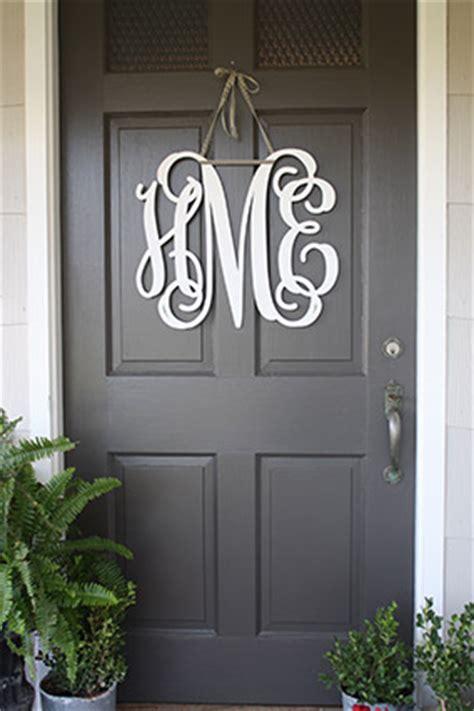Front Door Monogram On Pinterest  Office Party