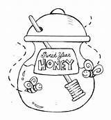 Honey Coloring Jar Sweet Pot Pages Bee Eve Pooh Drawing Cartoon Bear Printable Drawings Getcolorings Designlooter Open 52kb 650px sketch template