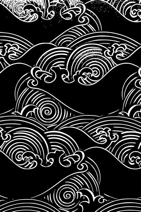 Pin by John Michael on Wallpapers in 2019 | Japanese patterns, Pattern art, Wave art