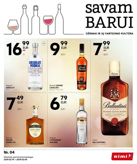 """Alkoholinių gėrimų asortimentinis katalogas """"SAVAM BARUI ..."""