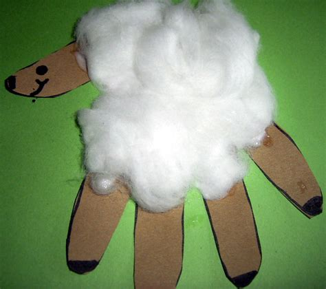 lamb crafts for preschoolers make handprints lambs for easter or 659