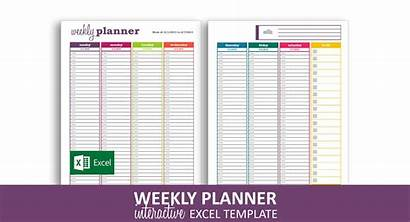 Planner Excel Weekly Template Dynamic Basic Templates