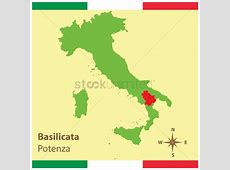 Basilicata on italy map Vector Image 1583951