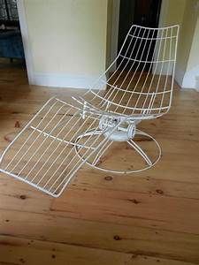 Reserved Vintage Midcentury Homecrest Wire Outdoor Chaise
