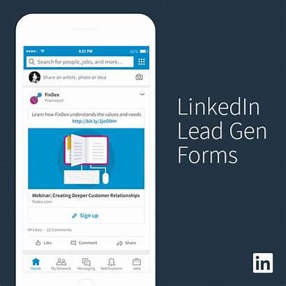 Linkedin Lead Gen Forms Generation Form Mobile