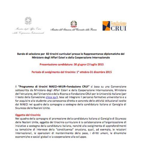 Stage Consolato by Stage In Ambasciata Pubblicato Il Bando Per 82 Posti E