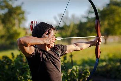 Pointing Arrow Archery Bow