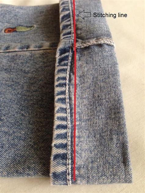 hem jeans stitching easy sew shorten ways hand guide seam line denim needle using sewguide