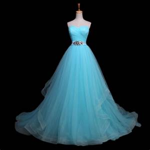 elegant crystal beaded sashes vestido de noiva light blue With blue wedding dresses