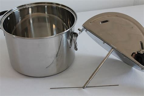 fashioned stovetop popcorn popper hand crank ss