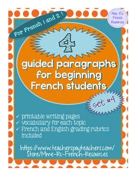 4 guided paragraphs for beginning French will get your ...