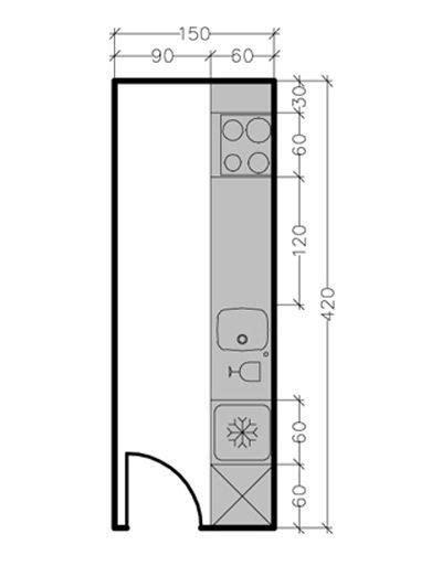 13 plans pour une cuisine fermée de 3 à 9 m2 côté maison