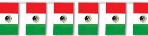 fiesta banners - Mexican Flag Banner - fiesta party supplies