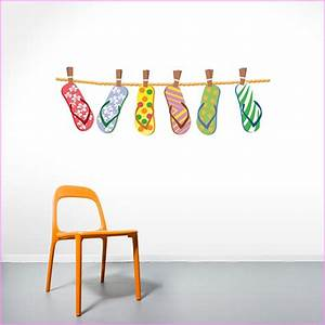 flip flop decor home design ideas With kitchen cabinets lowes with flip flop wall art