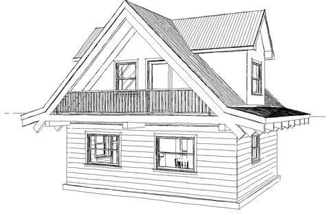 Simple House Sketches Drawings Sketch