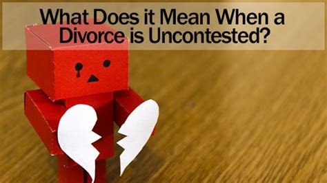 divorce  uncontested