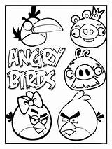 Angry Birds Pages Colouring Templates Coloring Printable Bird Sheets Boys Printables Boy Printouts Birthday Before sketch template
