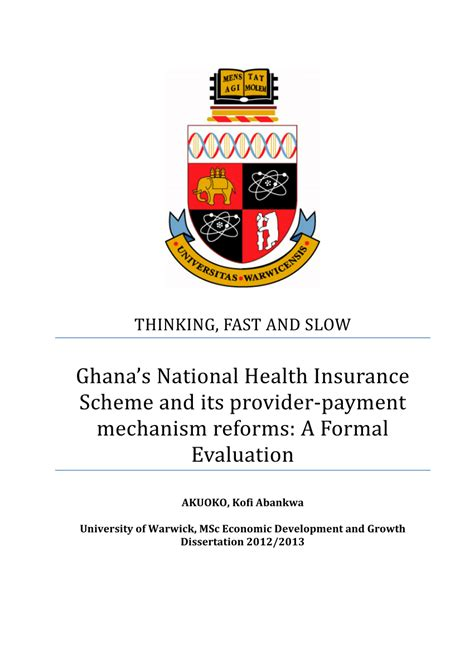 National health insurance is a reputed firm in india that caters into almost every aspect of general insurance products. (PDF) Ghana's National Health Insurance Scheme and its provider‐payment mechanism reforms: A ...