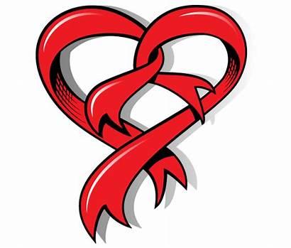 Heart Ribbon Vector Shaped Clipart Shape Valentine