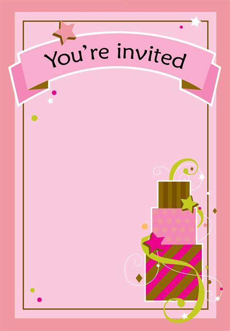 printable girl fun birthday invitation printable