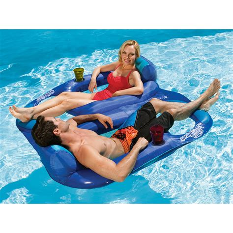 reclining pool float swimways float recliner duet at hayneedle