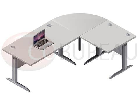 bureau de liaison ensemble bureau 140 cm pro métal avec angle de liaison 90