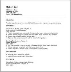 environmental health and safety resume exles engineering resume exles