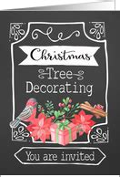 christmas tree trimming party invitations  greeting
