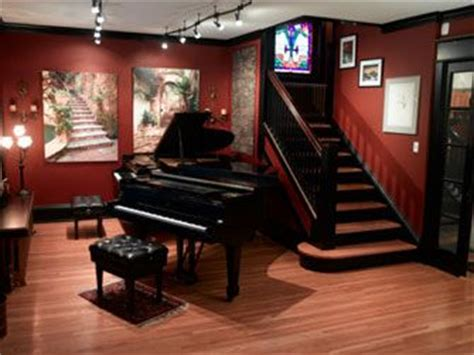 day  piano room  completely black  white color