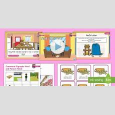 Black And White * New * Consonant Digraphs Recap Lesson Pack  Level 3 Week
