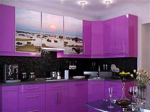 purple kitchen cabinets modern kitchen color schemes With kitchen cabinet trends 2018 combined with lotus flower stickers