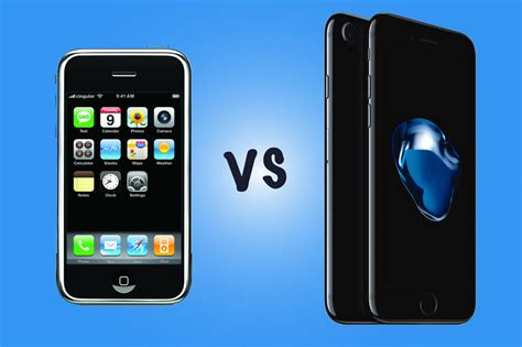 iphone vs smartphone original iphone vs iphone 7 what s the difference 10