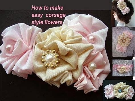 how to make a with cloth how to make corsage style fabric flowers sewing for beginners youtube