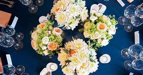 wedding colors navy blue  peach  perfect palette