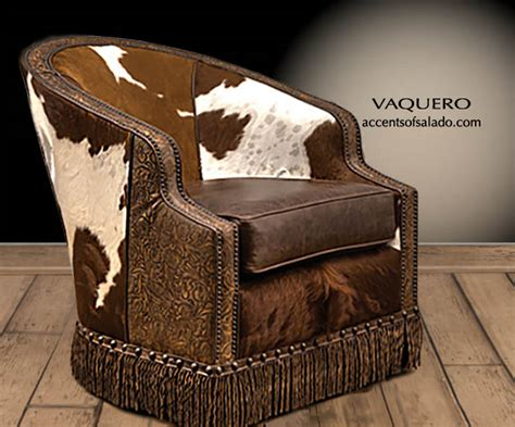 western leather cowhide chairs with crocodile