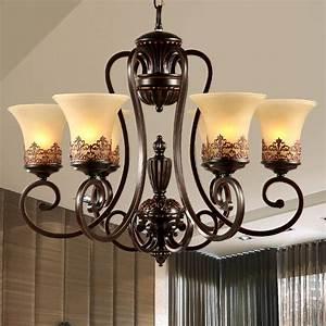 Aliexpress, Com, Buy, European, And, American, Bedroom, Chandelier, Rustic, Iron, Decorative, Crystal