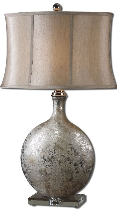 uttermost 27428 metallic silver navelli table l