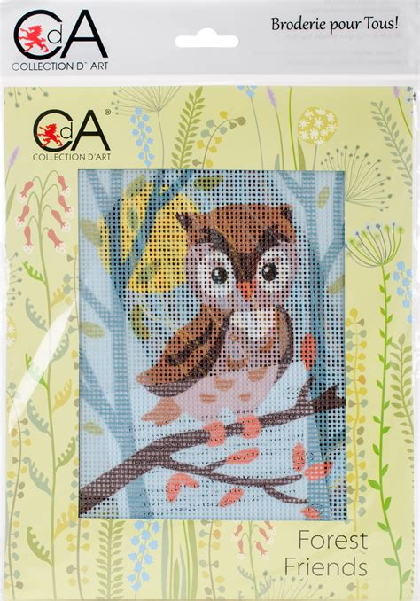 collection dart stamped needlepoint kit xcm owlet