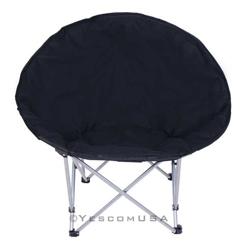 folding saucer chair microsuede folding padded saucer moon chair lagre