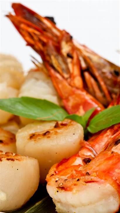 Seafood Salad Shrimp Scallop Greens Soup 4k
