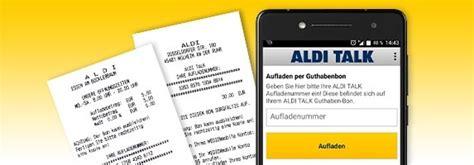 aldi talk guthaben bei prepaid tarif aufladen abfragen