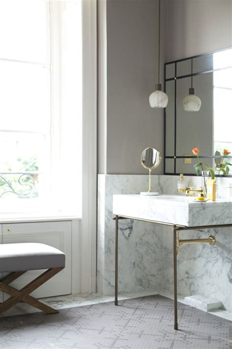 over bathroom sink lighting small petal like pendant light above a marble sink decoist