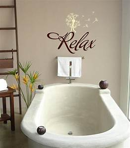 Relax with dandelion Bathroom-Vinyl Lettering wall words