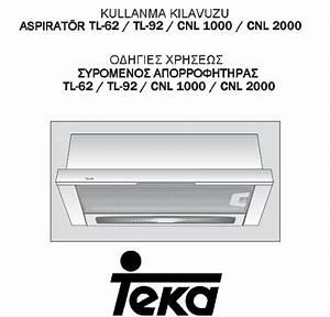Teka Ventilation Hood Cnl 2000 User Guide