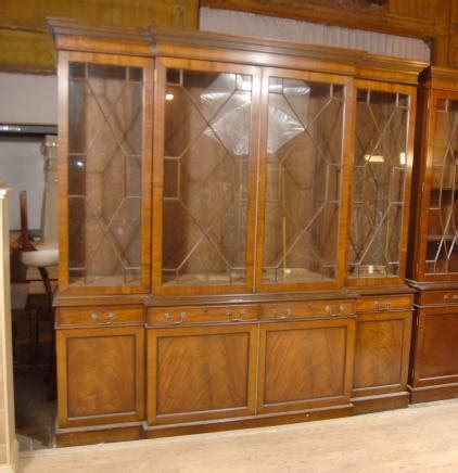damaged kitchen cabinets for 8 ft walnut george ii breakfront bookcase book 8550