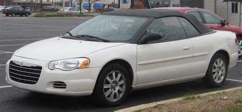 06 Chrysler Sebring file 03 06 chrysler sebring convertible jpg wikimedia