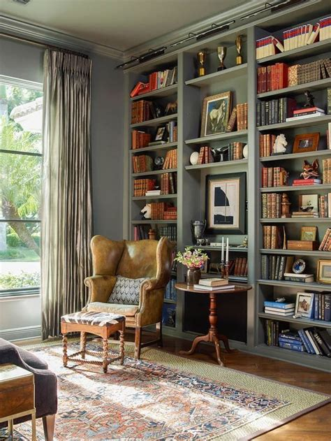 transitional home library    home