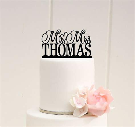 mr mrs cake topper wedding cake topper scroll mr and mrs topper custom