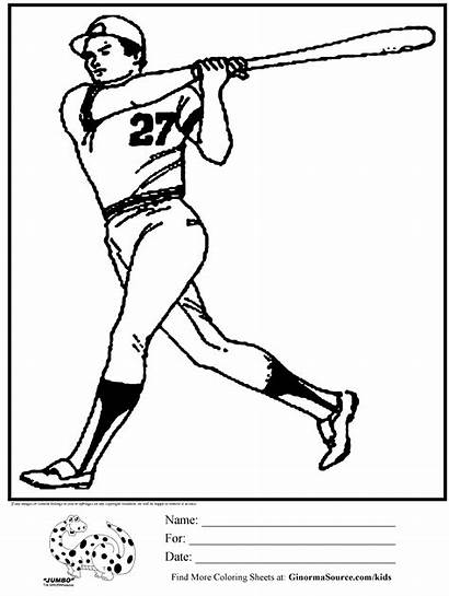 Coloring Baseball Pages Pitcher Batter Ruth Babe