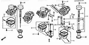 Honda Motorcycle 1981 Oem Parts Diagram For Carb